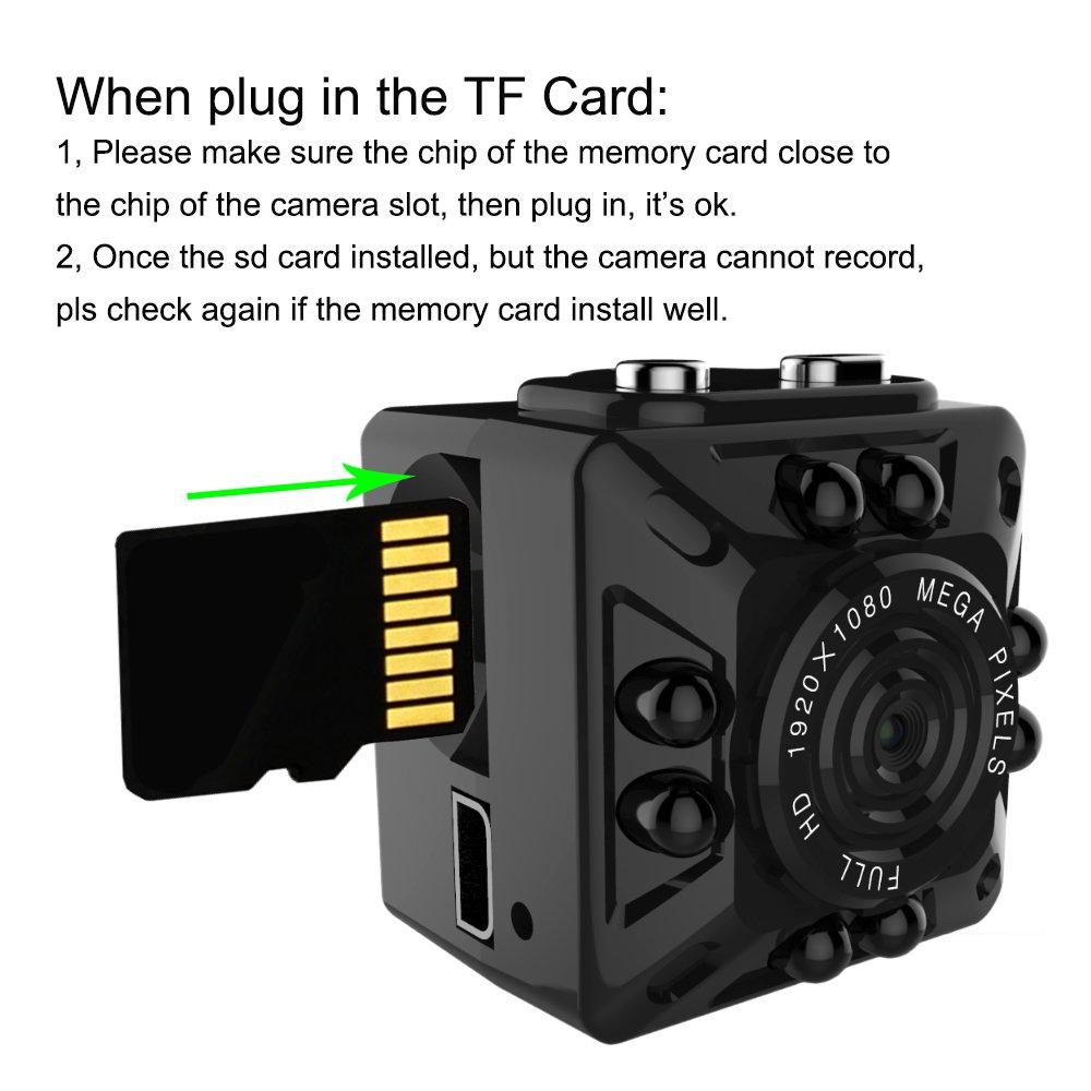 Aufikr - Mini cámara de vídeo DV, 1080P, Full HD, 12 MP, con visión Nocturna infrarroja, detección de Movimiento, cámara de vigilancia de Seguridad para el ...