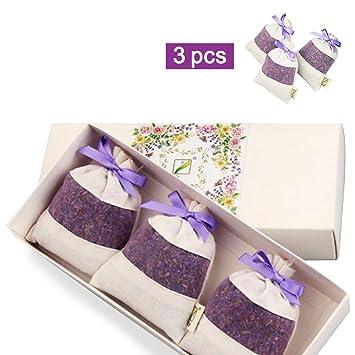 Amaoma Lavendelsäckchen 20g*3, Natürlichem Lavendel Duftsäckchen, Home  Duft, Schlafzimmer Kleiderschrank Zusätzlich zu Geschmack Beutel, Auto ...