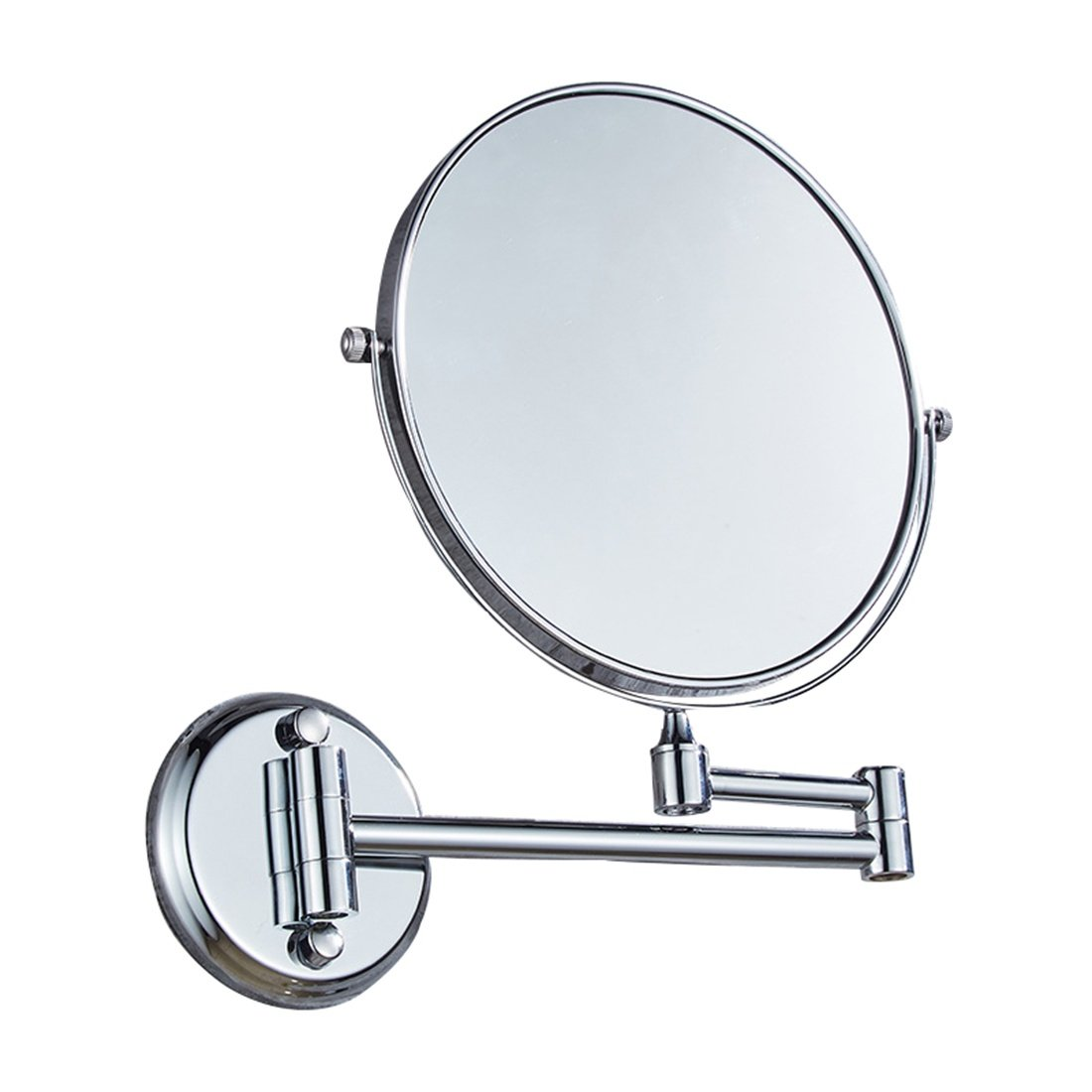 Ysayc Vanity Mirror Double-sided 3x Magnification Wall Mounted Hanging 360° Swivel Bath Spa Hotel Round Bathroom Cosmetic Mirror wall-mounted-mirrors, Silver