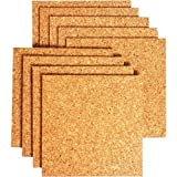 (PACK OF 8)Bradforth Cork Tiles, Natural Frameless, 12x12in