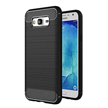 official photos fd91e d926b Skitic Case for Samsung Galaxy J5 2015, Luxury Carbon Fiber Ultra Slim  Bumper Back Protective Scratch Resistant Cover Rugged Armor Case for  Samsung ...