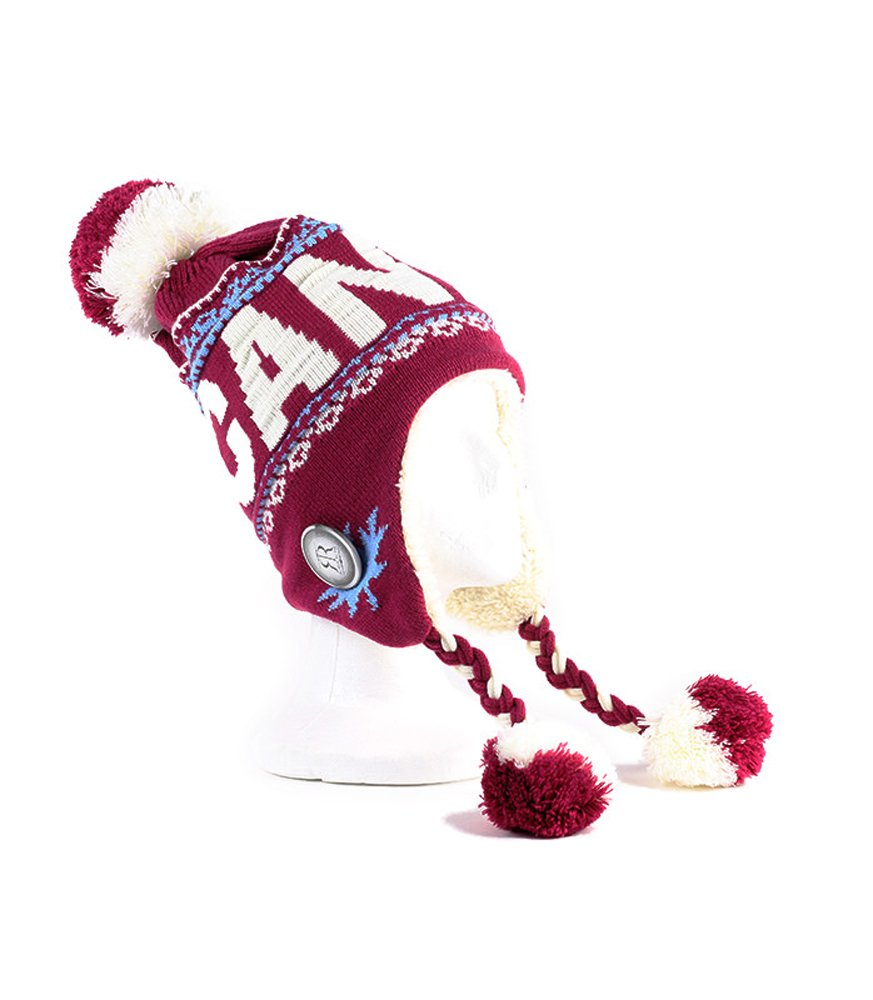 Warm Winter Hat with Fur & Pom Pom Travel Canada True North - Fuchsia