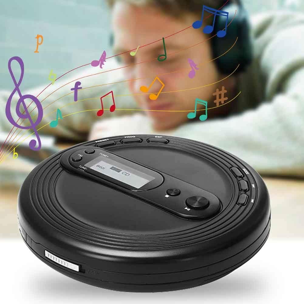 UKW-Radio und Stereo-Ohrh/örer USB-Schnittstelle LZDseller01 Tragbarer CD-Player mit /Überspringschutz