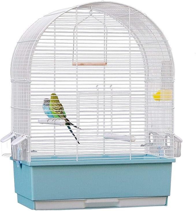 Jaulas de pájaros perico loro Jaula de pájaro de metal de gran capacidad es adecuado for las Aves pequeñas y medianas ornamentales tales como The Little Sun ( Color : Blanco , tamaño : 30X50X68cm )