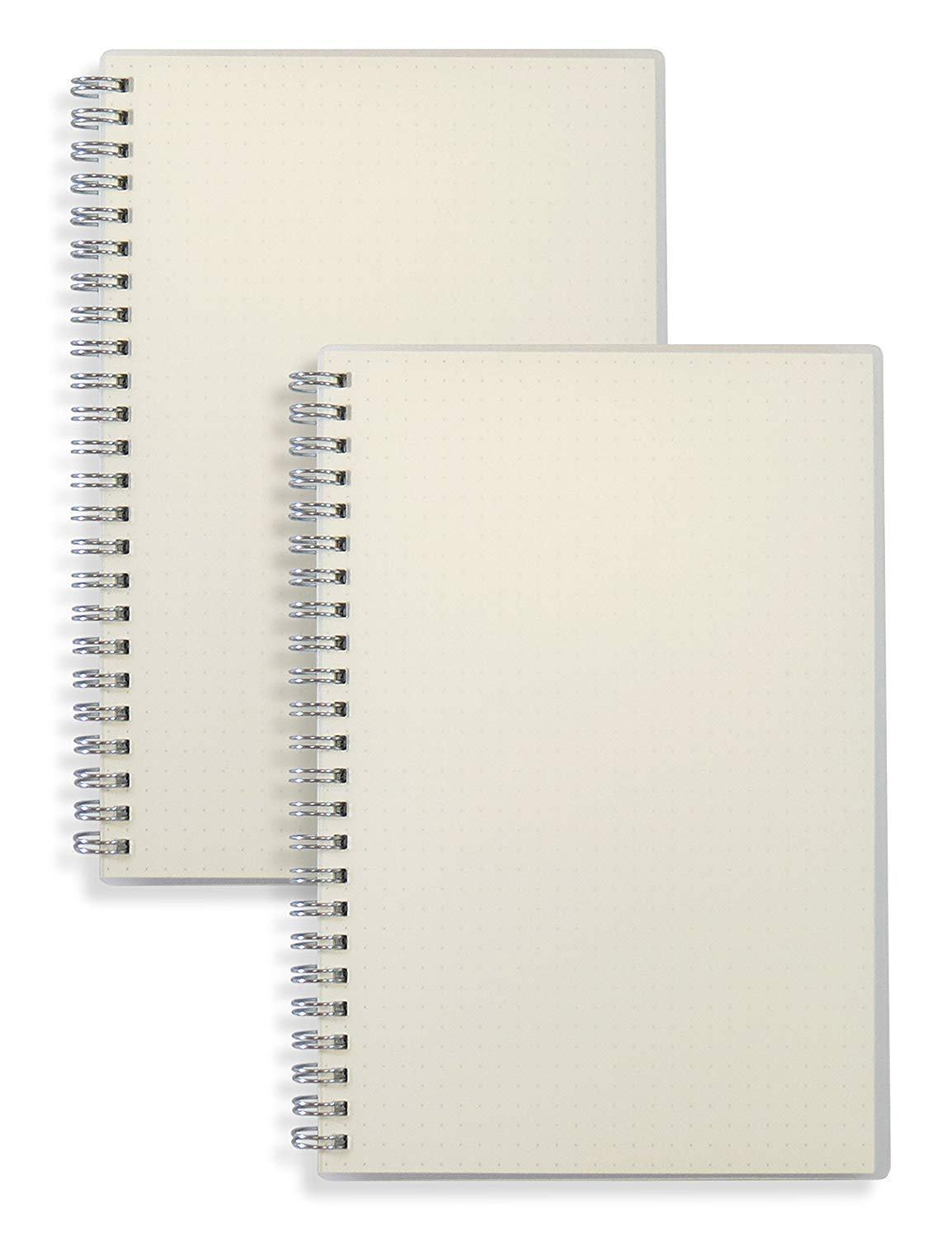 (2-Pack) A5 Dot Grid Bullet Journal 80gsm Spiral Notebook 5.7 x 8.3 inches - 80 Sheets per Book, Thick Dotted Paper, Wirebound Md trade