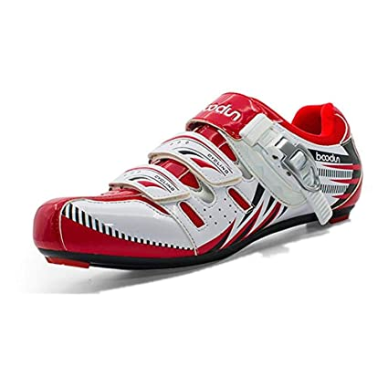 Gimitunus Cómodo Zapatos de Ciclismo en Carretera Zapatos de Bicicleta Respirables Profesionales para Hombres Zapatos atléticos
