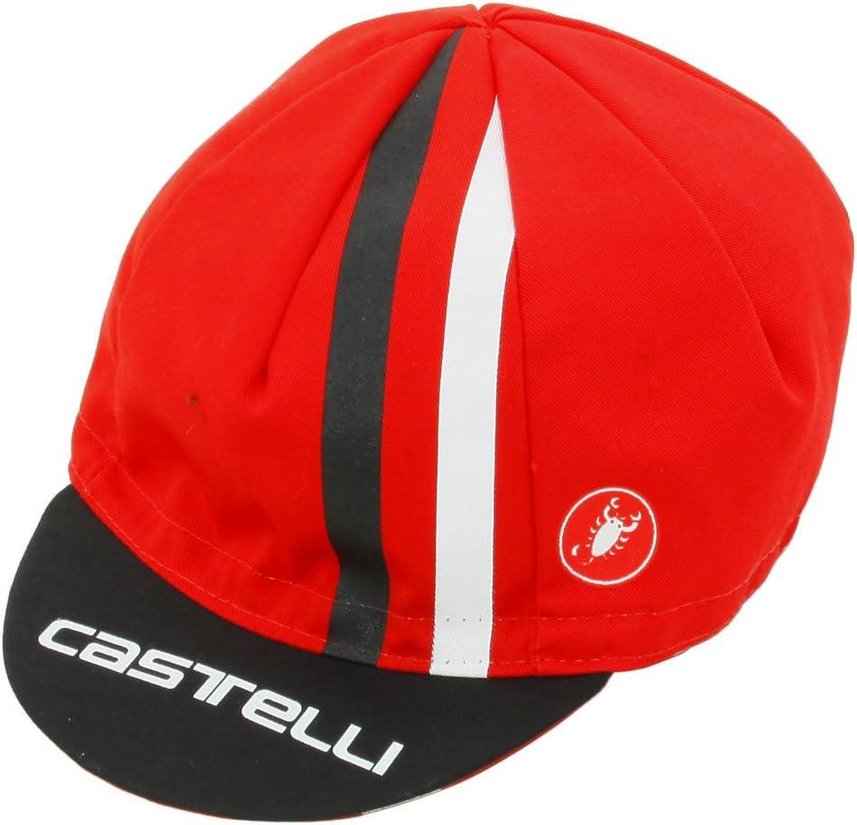 Castelli Herren Rosso Corsa Cycling Cap Outdoor-Cap NEU