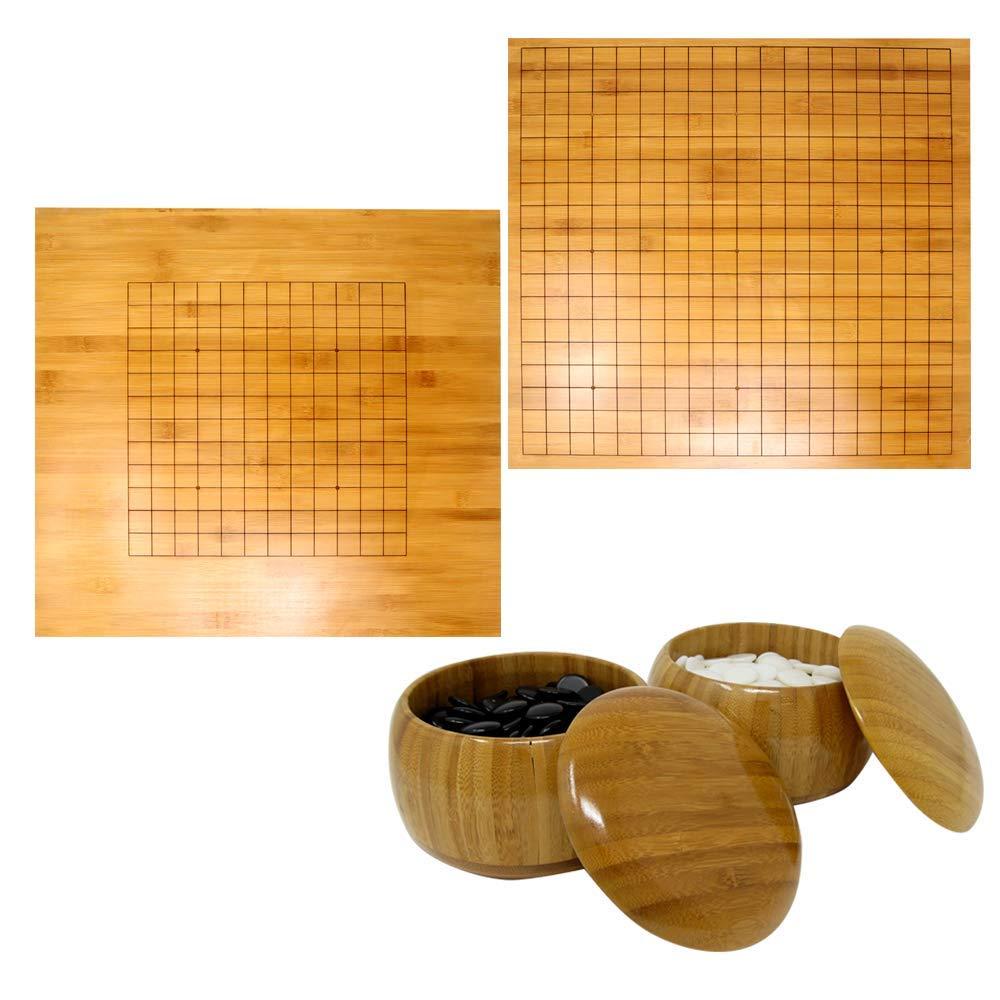 【期間限定特価】 Funrarity 両面 19 x 19 13/ 13 x 13 両面 With 標準サイズ Go Board With Go Stones and Go Bowls B07L35QP56, 平谷村:ce7c6317 --- ballyshannonshow.com