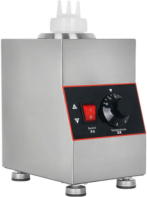 650ml Commercial Electric Cheese Sauce Warmer, Countertop Food Sauce Warmer Multifunction Jam Heat Preservation Machine Jam Heating Pump for Hot Fudge Cheese Caramel, 30-85℃ Temp Adjustable