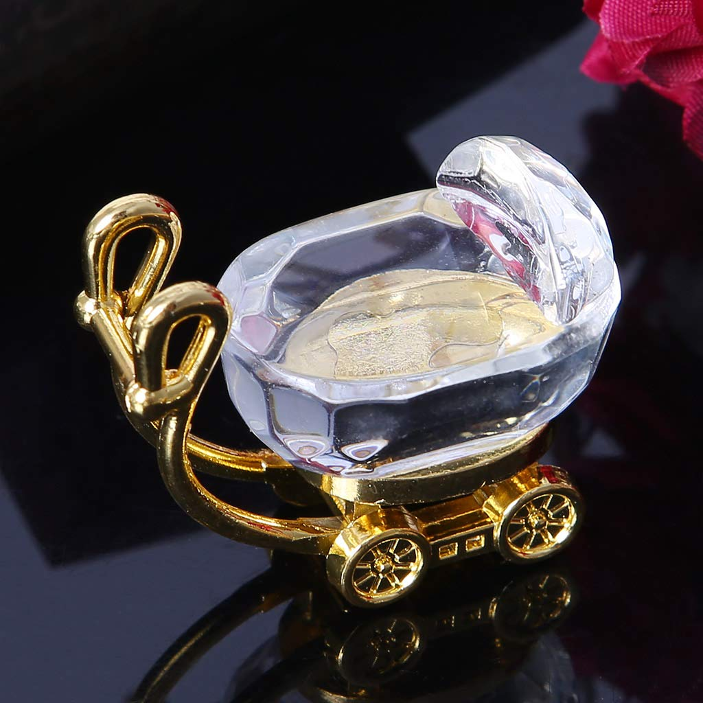 Special Mothers Day gold Mini Pushchair Decoration only y Crystal Ornaments of Baby Pram