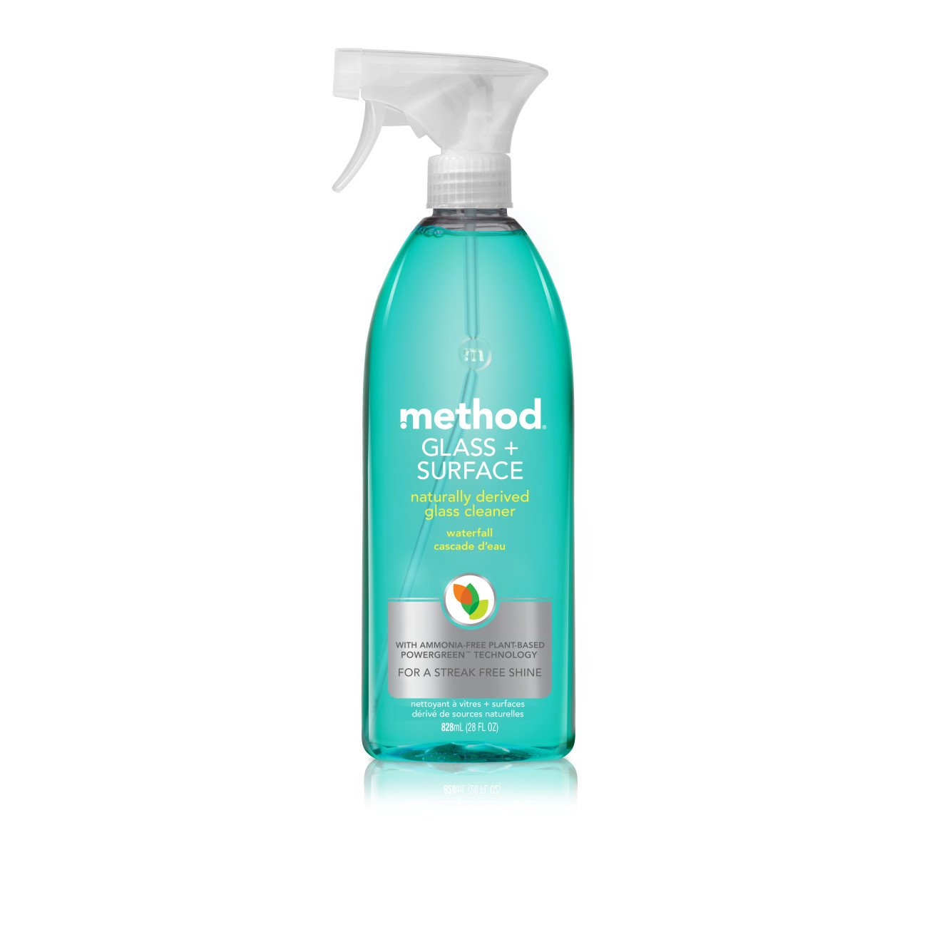 Method Glass Cleaner + Surface Cleaner, Waterfall, 28 Ounce (Pack of 8)