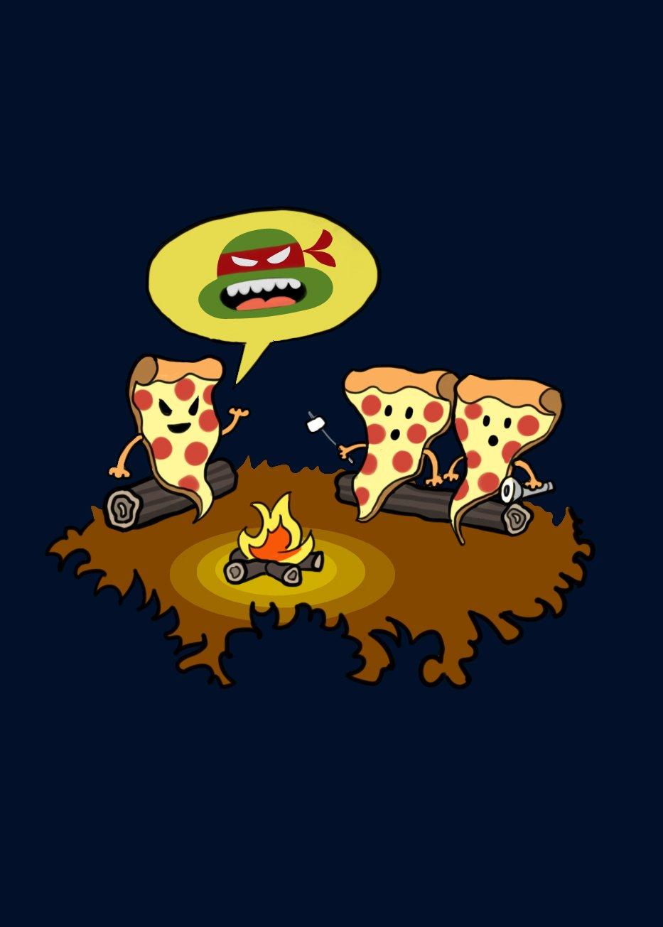 Pizza Horror Funny Turtle TV Show Cartoon Parody Rectangle Refrigerator Magnet