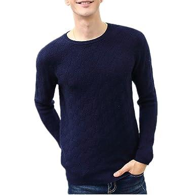 Herren Kaschmir Pullover Cashmere Blend Sweater: