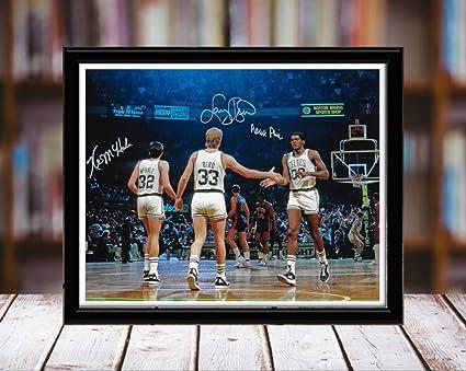 4af991d12d0b Amazon.com  Boston Celtics Big 3 Autograph Replica Print - Kevin ...
