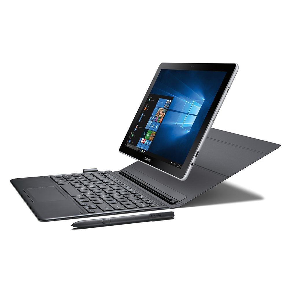 "Samsung Galaxy Book 10.6"" Windows 2-in-1 PC (Wi-Fi) Silver, 4GB RAM/128GB storage, SM-W620NZKAXAR"