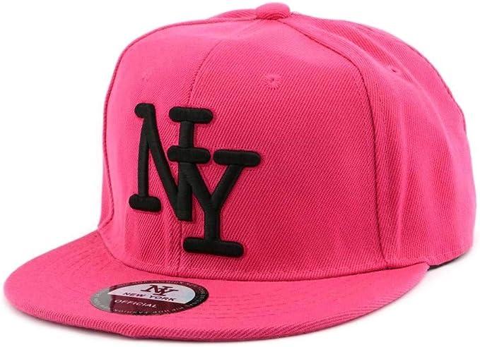 Hip Hop Honour Visera Plana NY rosa con logo negro – Mixta Rose ...