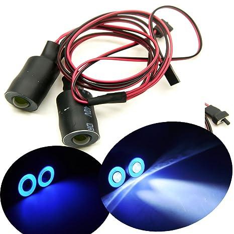 17mm RC LED Licht Scheinwerferlampe Zubehörteil Set für SCX10 Wrangler 1//10 Auto