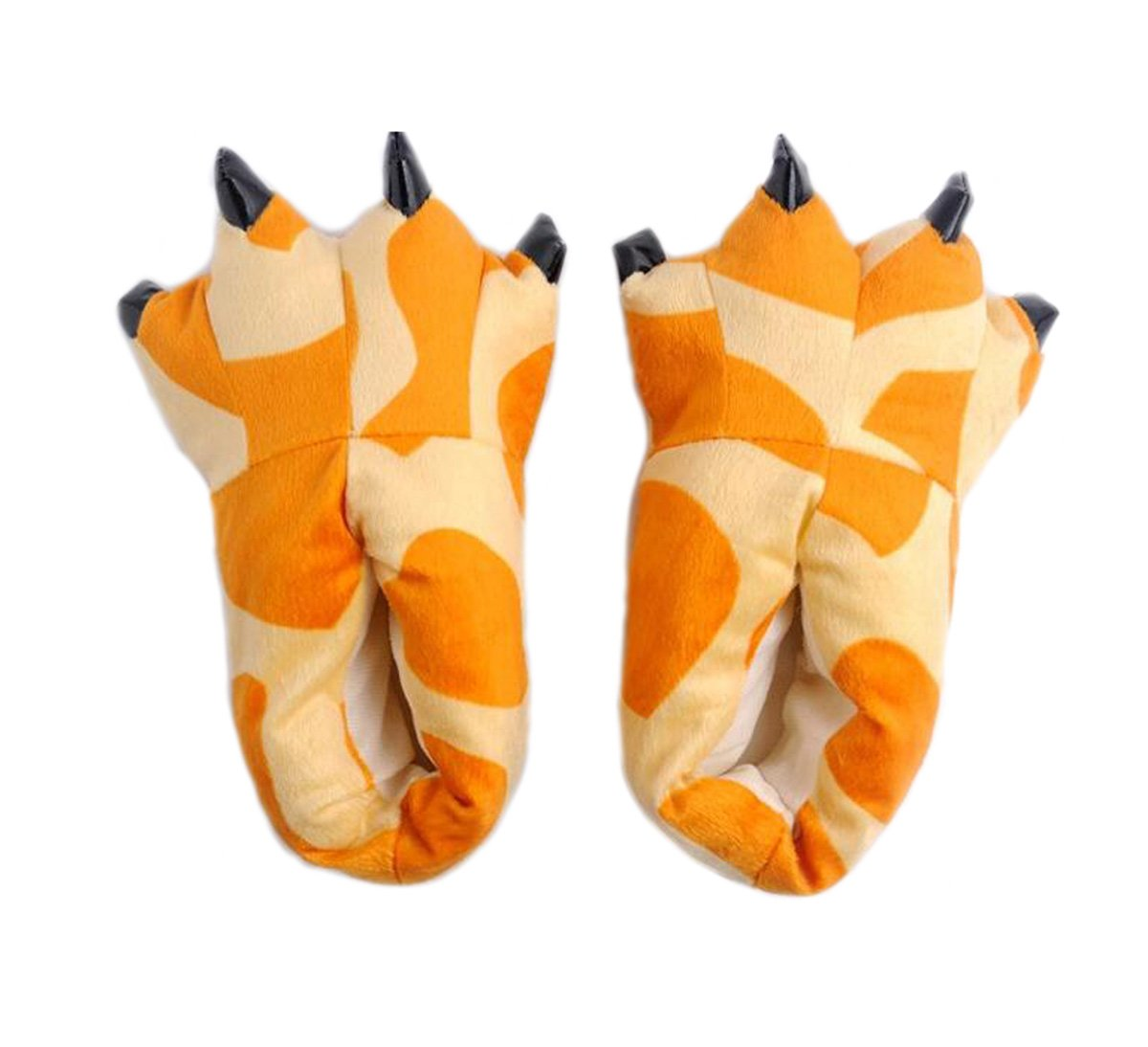 LANFIRE Peluche Peluche Unisex Pantofole Animal Costume Paw Claw Shoes Giraffe
