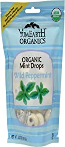 Yummy Earth Organic Wild Peppermint Candy Drops, 3.3 Ounce