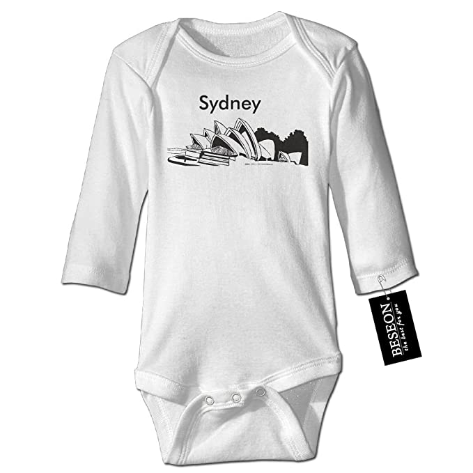 e88b04b4f Amazon.com  Baby s Boys Girls Sydney City Silhouette Long-Sleeve ...