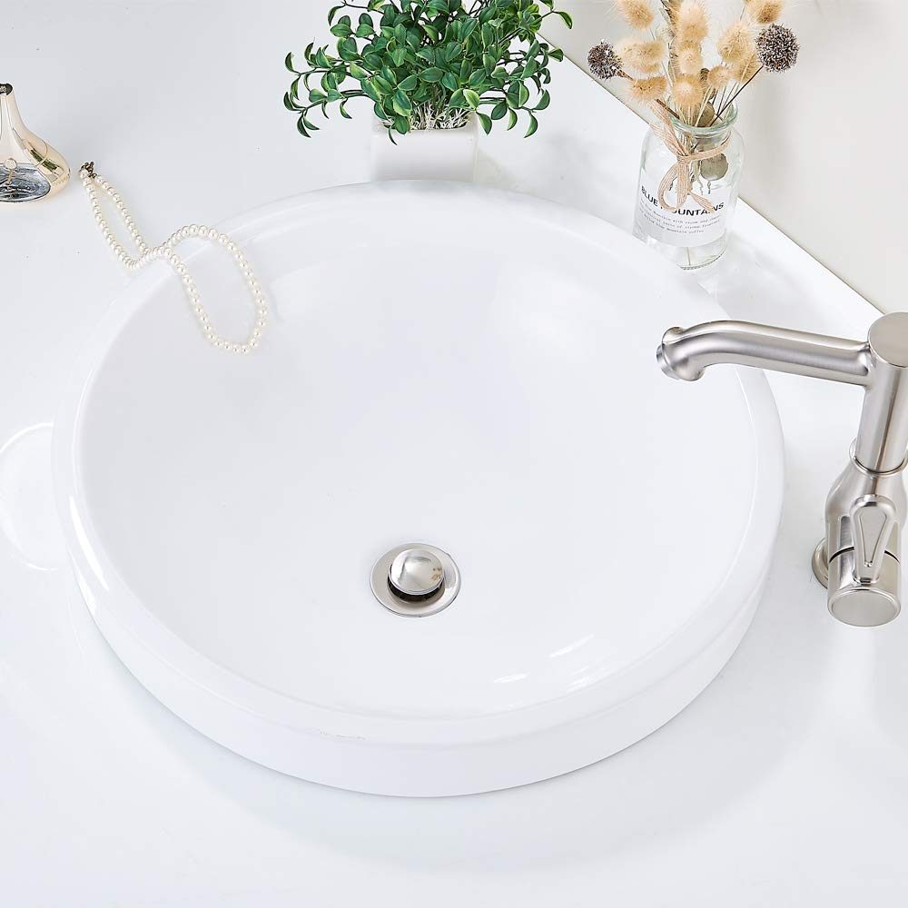 Fits American Drain Hole Bathroom Vessel Lavatory Vanity Faucet Sink Drain Stopper ,with Overflow R085K-ORB REGALMIX Oil Rubbed Bronze Pop UP Drain 1-1//2 to 1-3//4 Built-In Anti-Clogging Strainer