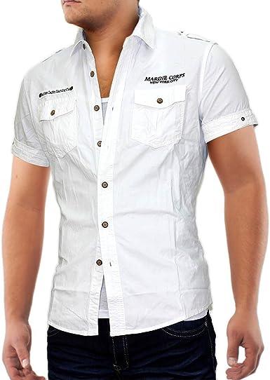 Camisa manga corta ID679 Marine Corps (diversos colores), tamaños: S;Colores: blanco: Amazon.es: Ropa y accesorios