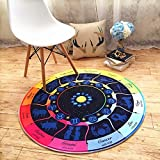 HOMEE European - style living room children 's room bedside chlorophytum computer chairs cartoon constellation round carpet,Diameter 90 Cm,A