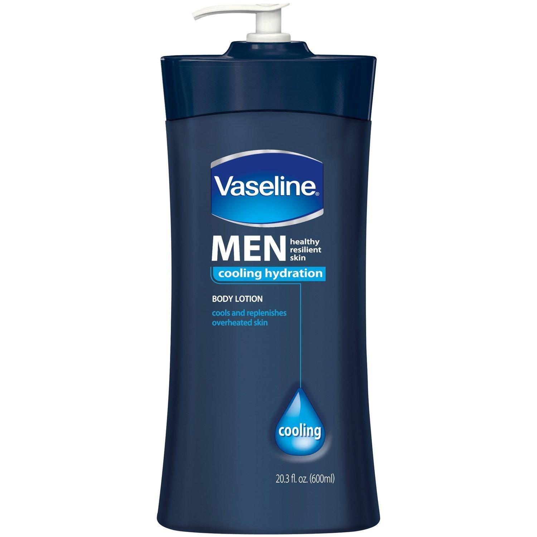 Vaseline Mens 24-Hour Moisture Lotion Cooling 20.3oz (2 Pack)