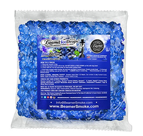 BlueBerry 500G Ultra Premium Beamer Ice Drops Hookah Shisha Smoking Gel. Each bowl lasts 2-4 Hours! USA Made, Huge Clouds, Amazing Taste! Better Taste & Clouds than Tobacco!