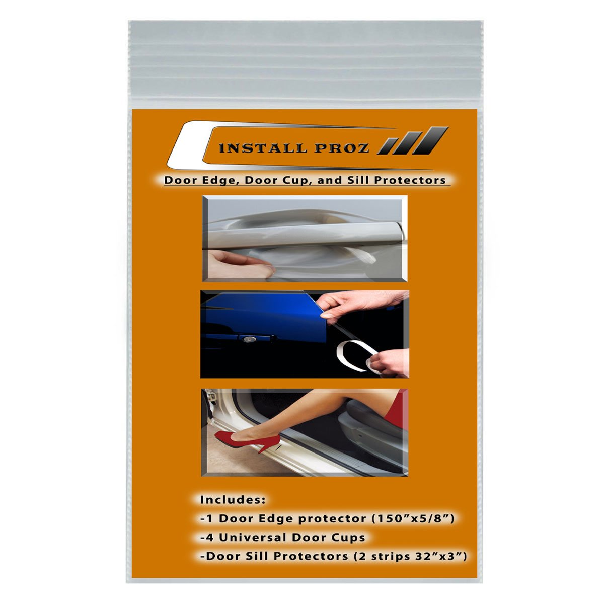 Install Proz Self-Healing Clear Paint Protection Film Kits (Bundle-Door Edge, Door Cup, and Door Sill)