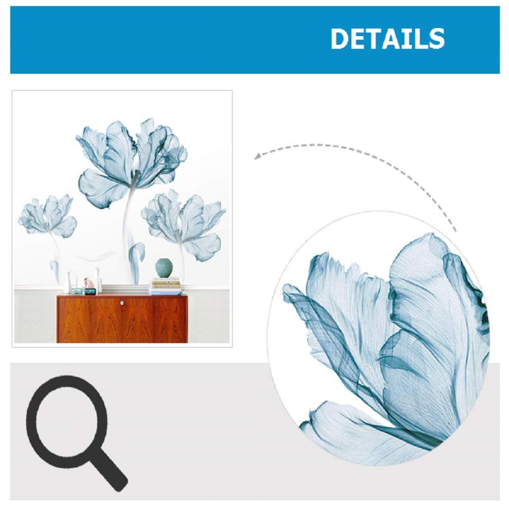DERUN TRADING Wall Stickers & Murals Home Décor Home Décor Accents for Living Room Flower Wall Decals Home Improvement Paint Wall Treatments Wall Decals Murals Decor Vinyl Removable Mural Paper … by DERUN TRADING (Image #7)