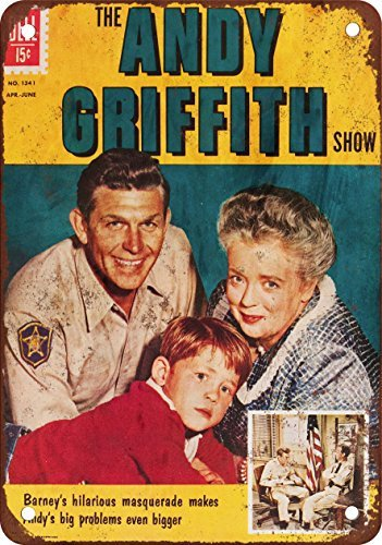 Andy Griffith Vintage Look Reproduction Metal Tin Sign 12X18 - Sign Andy Griffith Tin