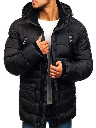BOLF Blouson d hiver Veste Parka Capuche Homme Casablanca 48884 Noir XXL ... 641d6af0994