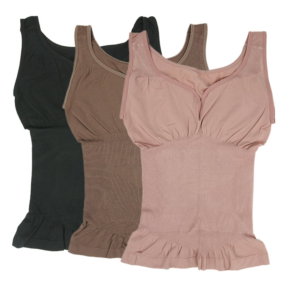 a85f7587c7 Lucky Commerce Womens Shapewear Camisole Seamless Basic Smoothing Tank Tops  1  2  3 JXZY01678 Christmas gift store