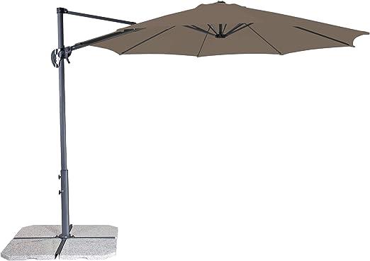 Derby Ravenna Smart 300 – Sombrilla Ideal para jardín y terraza – inclinable – Aprox. 300 cm: Amazon.es: Jardín