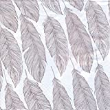 These Feather Napkins will add a classic touch to any kitchen table. Great for Picnics, parties, bbqs and Al Fresco dining. by Bahne Homeart