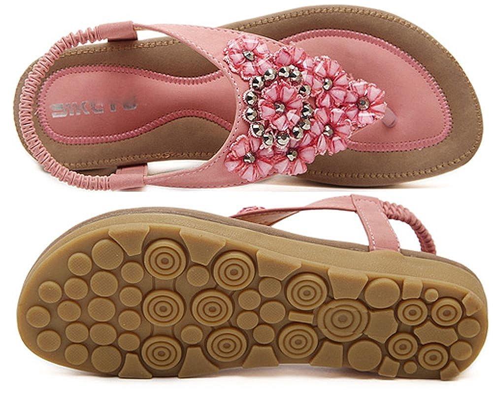 KUFV Womens Ladies Summer Thong Sandals Flats Toe Post Flip Flops Casual Shoes