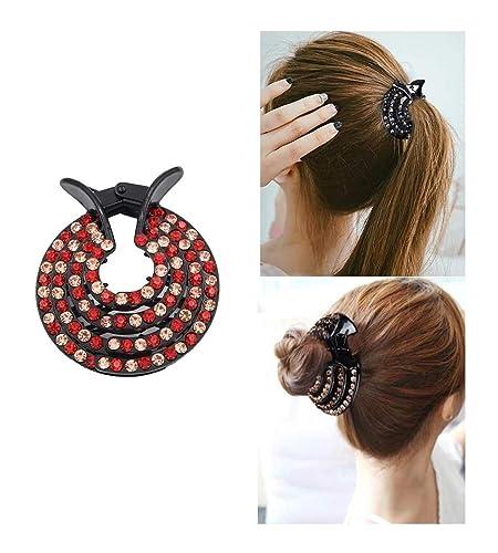 Women's Hair Accessories Fashion Ladies Black Crystal Rhinestone Hair Clips Claws Comb Clamp Accessories