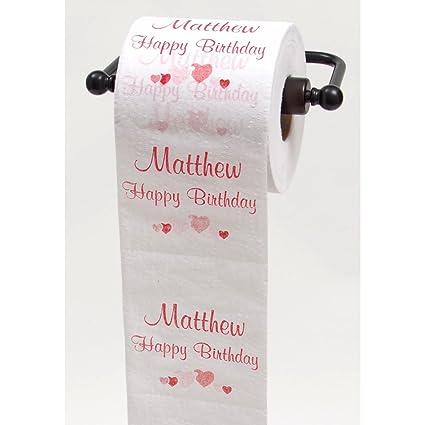 Amazon.com: JustPaperRoses Happy Birthday toilet paper - top 25 male ...