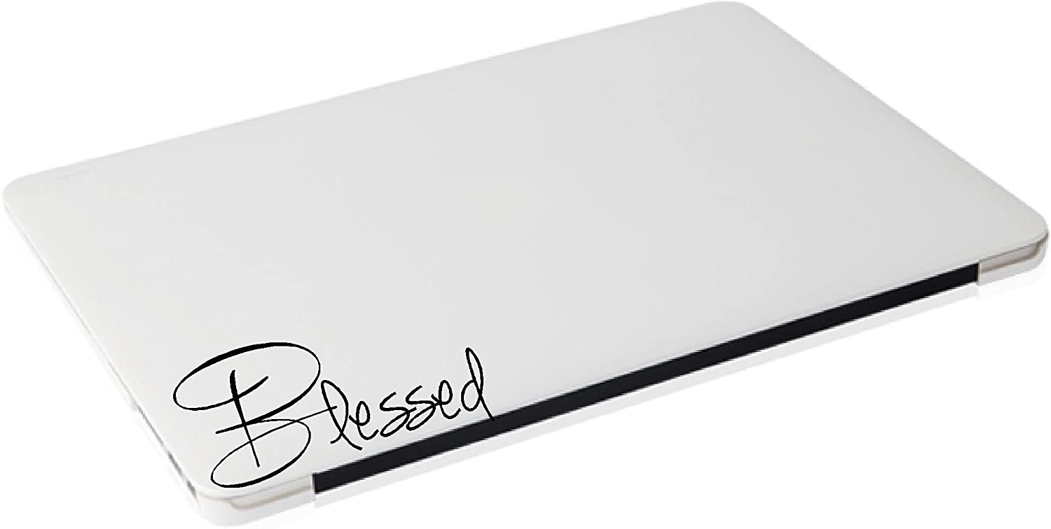 Laptop Sticker - Blessed Religious Funny Decal - Matte Black Skins Stickers