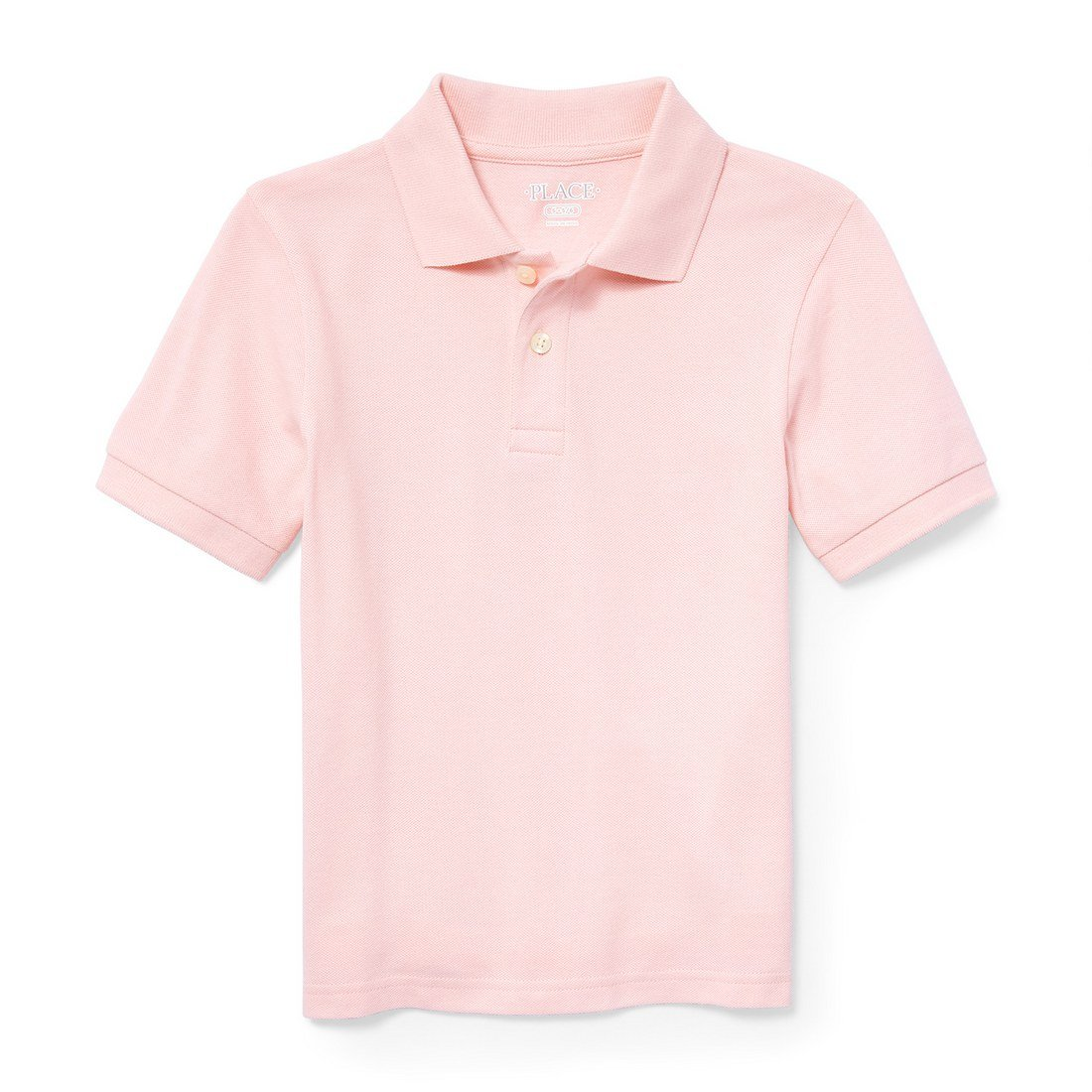 The Children's Place Big Boys' Short Sleeve Uniform Polo, Pink Rose 2428, M (7/8)