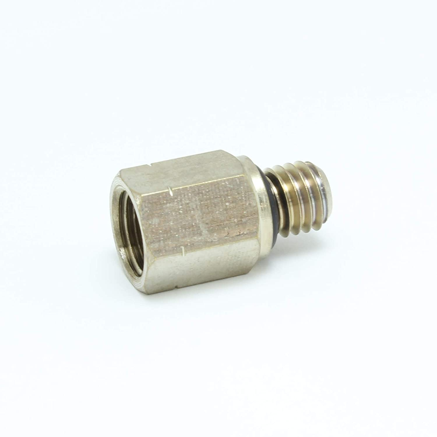 1//8 NPT Female to M8 Male Nickel Plated Brass Pipe Adaptor//Adapter Straight Reducer Coupling