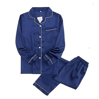 satins Silks Pyjamas Men Casual Pajamas Sets Men Long Sleeve Pajama Simple Sleepwear Pijamas,Men