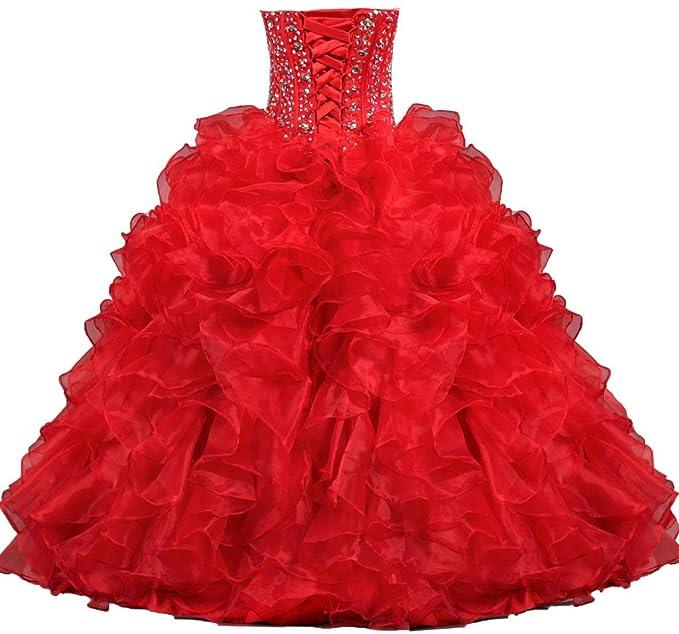 Amazon.com: ANTS Women\'s Sweetheart Formal Quinceanera Dress 2017 ...
