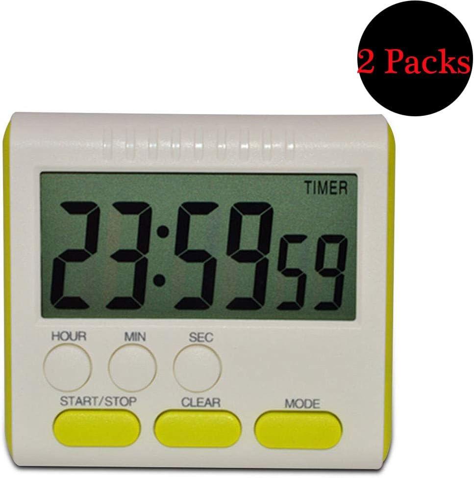 royalr Digital Time Magnetic Large LCD Digital Kitchen Timer 24 Hours Kitchen Timer Alarm Count Up/&Down Clock 24 Hours