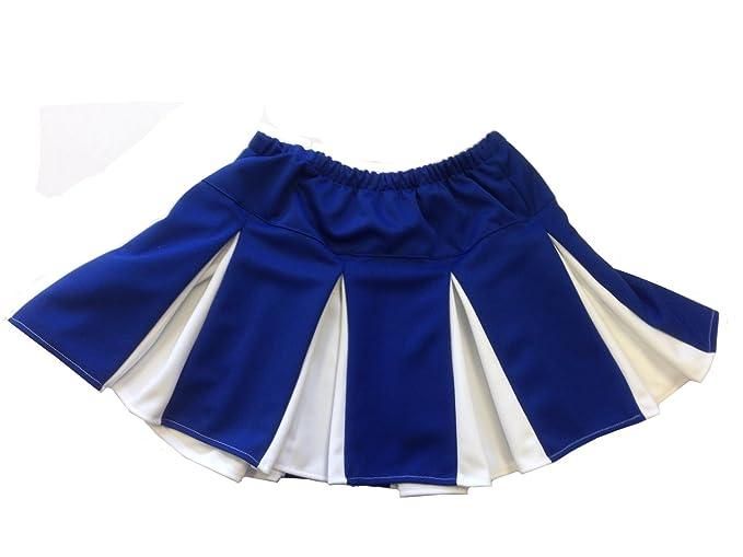 MyPartyShirt Falda Plisada Azul y Blanco para Animadora, Caja de ...