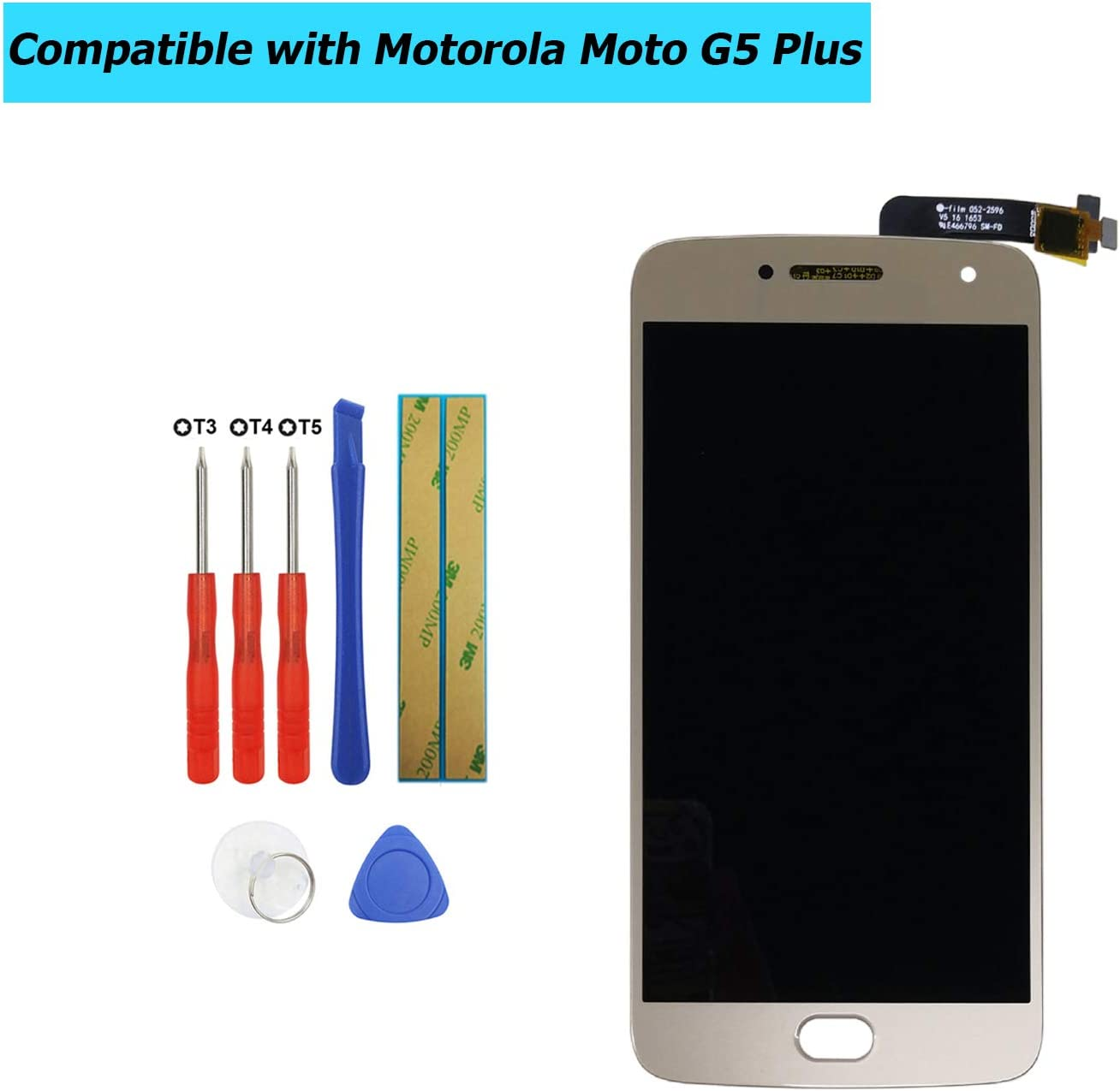 Upplus - Pantalla LCD de Repuesto Compatible con Motorola Moto G5 ...