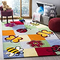 Safavieh Safavieh Kids Collection SFK753A Handmade Multicolored Cotton Area Rug (5 x 8)