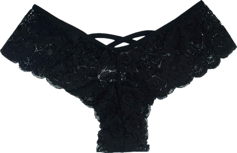 ad08f0b7bcf Amazon.com: TIFENNY Sexy Women's Lace Flowers Low Waist Underwear Panties G-String  Lingerie Thongs: Clothing