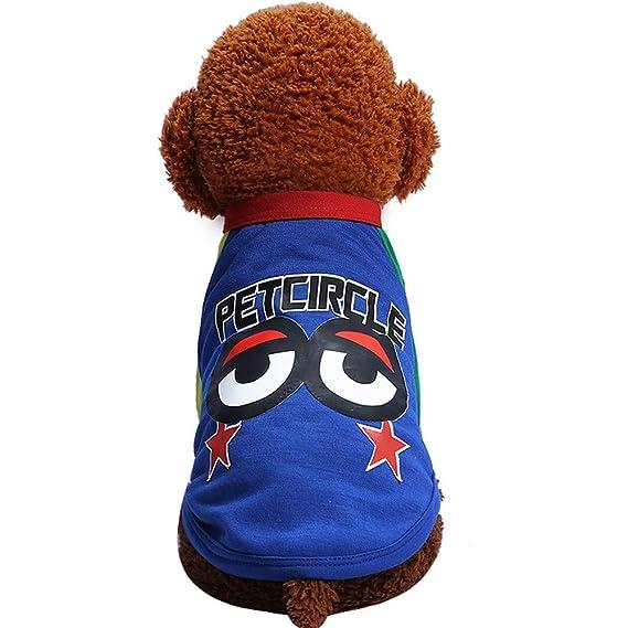 Ropa para Mascotas,Dragon868 Lindo Perro Ropa Mascota Ojos Grandes Impresos Camiseta Disfraces: Amazon.es: Ropa y accesorios